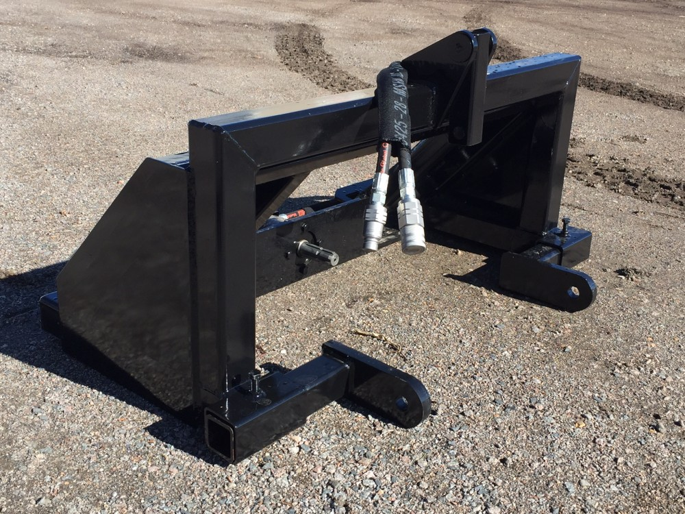 how to connect hydraulic attachment to skidsteer