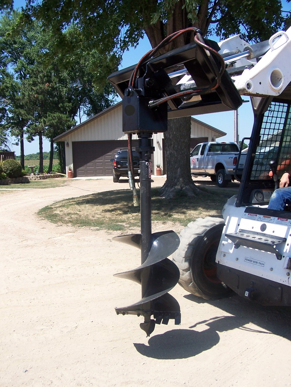 Skid Steer Post Hole Auger